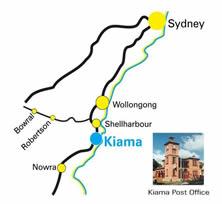 Kiama location map