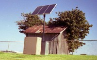 Solar powered outhouse. Photo by Ed Bacchus.