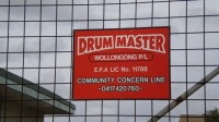 The Drum Master sign on the gate - get that phone number!