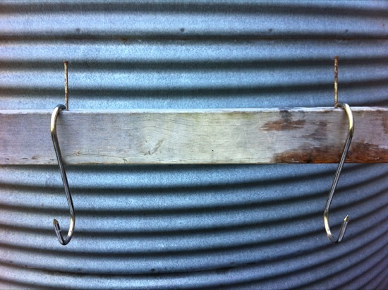 Rabbit processing meat hooks