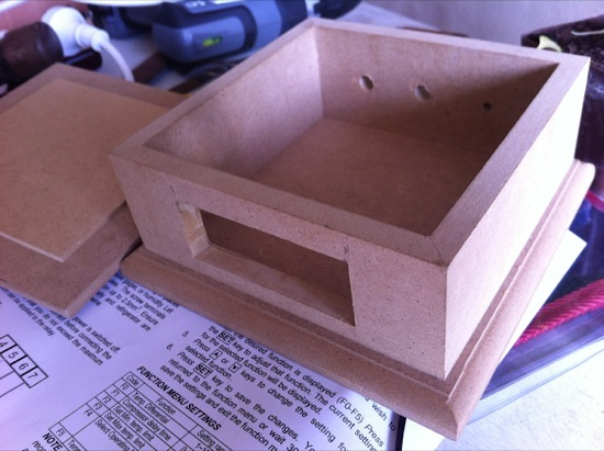 MDF craft box for temperature controller
