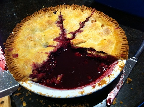A greedy blackberry pie