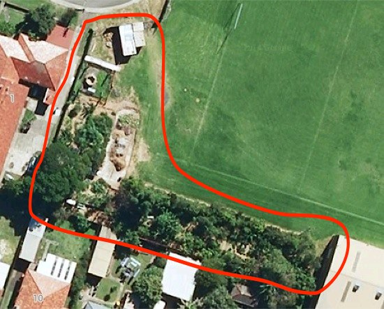 Wollongong PCYC Permaculture Community Garden Aerial
